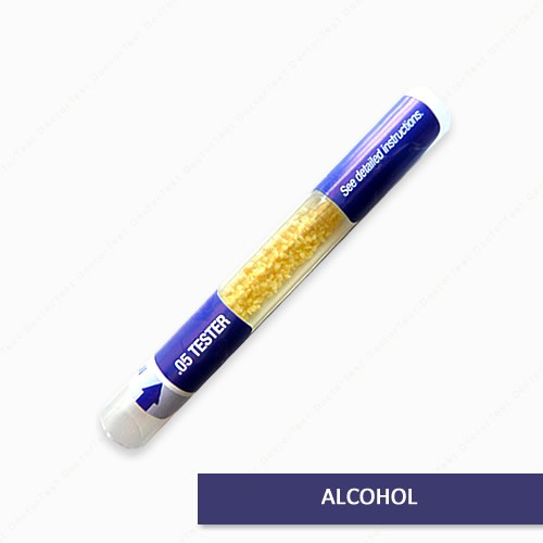 Prueba de alcohol en aliento- Unico uso